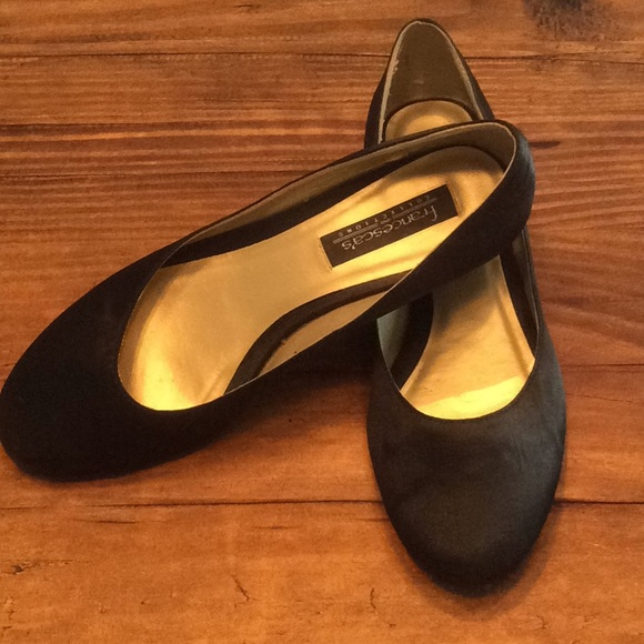 Francesca Ladies Black Satin Ballet